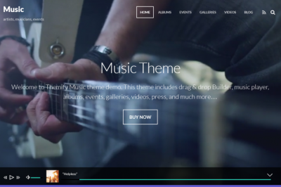 Wordpress-Music-Theme